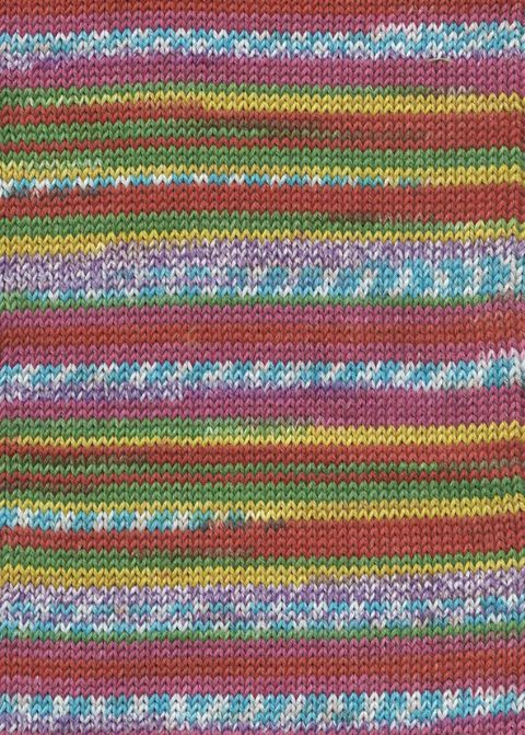 Lang Yarns BABY COTTON COLOR 53 bright fairisle print